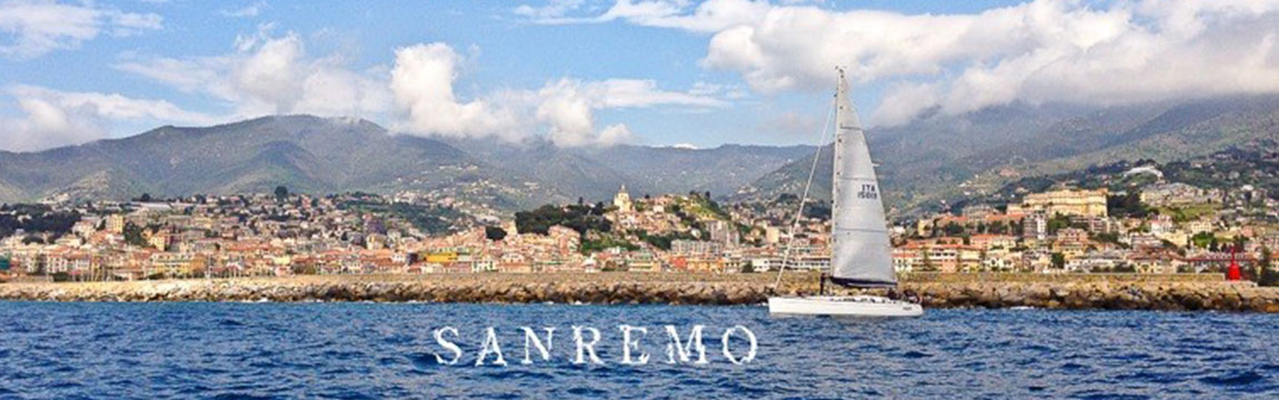 Panorama of Sanremo from the sea