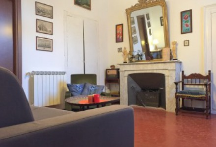 House with basement room and garden in Castelvittorio.