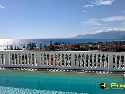 Wonderful penthouse with superb sea views and a swimming pool on the terrace